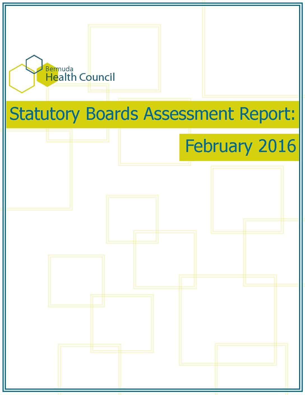 2015 Statutory Boards Self-Assessment Report