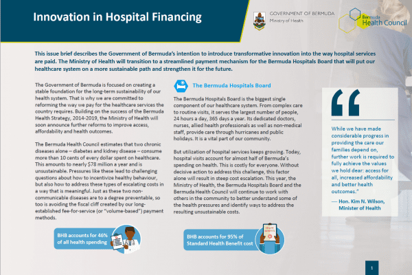 Innovation in Hospital Financing