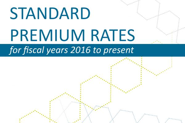 Standard Premium Rates – 2016 to Present